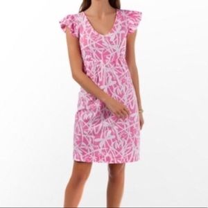 Lilly Pulitzer Pink Light My Fire Dragonfly Dress